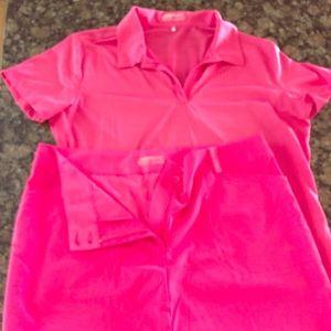 Women's Nike golf outfit XL top so 16 skort/skirt